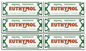 Euthymol Original Toothpaste 75ml Case of 6