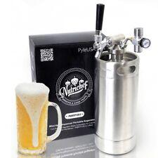 Homebrew Mini Keg - Stainless Steel CO2 Home Keg Dispenser System (128 oz.)