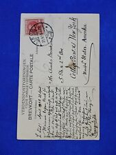 DENMARK cover, 10 ore 1907-1921 stamp on 1917 postcard to New York Amerika