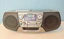 Sony Cfd-V17 Cd Radio Am/Fm Cassette Recorder Mega Bass Boom Box – Works Great