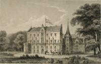 SCHACK; KOLB, Ansicht des Schlosses Reinhardsbrunn, 19. Jh., Stahlstich