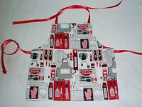 "Barbecue Apron fits American Girl dolls 18"" Doll Clothes Outdoor cooking theme"