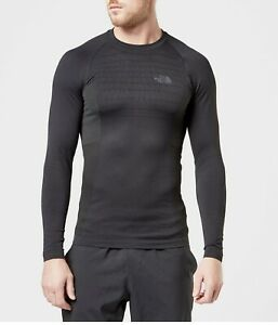 The North Face Men's Sport Active Long Sleeve Crew Base Layer Black-Small/Medium