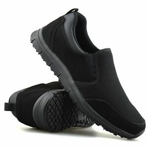 Ladies Womens New Leather Slip On Casual Walking Work Sports Trainers Shoes Size