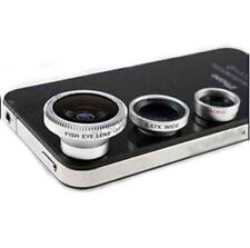 3 in1 Fisheye Lens + Wide Angle + Micro Lens photo Kit Set for iPhone 8 iphone x