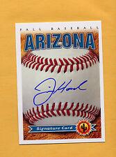 2014 Arizona Fall League AUTO card JUSTIN HANCOCK Padres