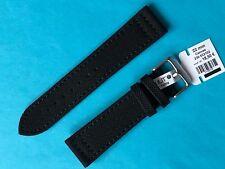 Uhrband EULIT Canvas Leder 22 Mm schwarz Ersatzband Band Strap Uhrenarmband
