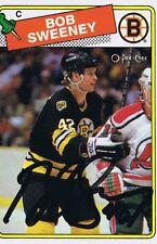 Bob Sweeney 1988 OPC Autograph #134 Bruins