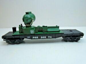 O-Scale Lionel Pennsylvania Railroad Search Light on Flat Car Rd# PRR 368 74