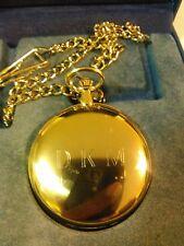 Charles-Hubert, Paris Gold-Plated Quartz Pocket Watch New Battery