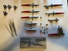 Paasche Airbrushes, Air Eraser, Flow Pencil, New parts in package lot