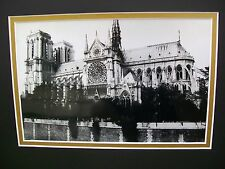 "11""x14"" Double Matted Black and White Photograph -- Notre Dame Cathedral, Paris"