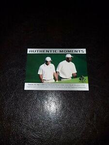 Tiger Woods & Michael Jordan UD SP Authentic 2014 Authentic Moments 69! Mint!