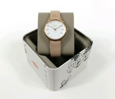 Face Rose Gold Es4185 New Nwt $115 Fossil Women's Watch Neely Sand Leather White