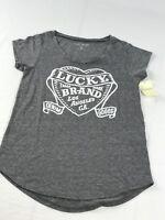 lucky brand women short sleeve shirt SZ XS DARK GREY