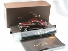 Brooklin BML 11 1940 Lincoln Zephyr 3-Passenger Coupe Burgundy Red 1/43