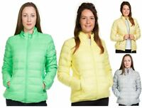 Ladies Padded Jacket Down Feather Lining Plain Lightweight Quilted Floral Coats