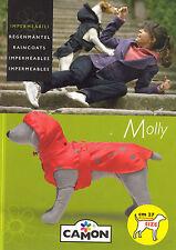 Cappottino impermeabile per cane con cappuccio staccabile Camon rosso taglia 27
