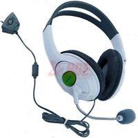 White XBOX 360 Gaming Headset Headphone w/ Mic XBOX Live Slim Audio Chat