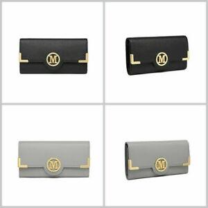Lange Geldbeutel Kartenfächer Reißverschluss Tasche Handyfach Geldbörse Damen