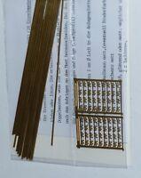 Weinert 6911 Telegrafenmasten 6 Doppelmasten Messing Bausatz Spur N 1 zu 160