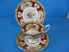ROYAL ALBERT TRIO CUP & SAUCER & 6 INCH PLATE LADY HAMILTON PERFECT CONDITION