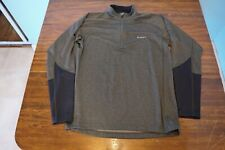 NWOT Simms Fishing Quarter-Zip Baselayer Top, Size L, Grey Color Technical Top
