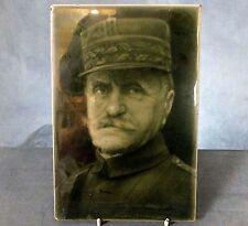 RARE LARGE FRAMED WWI. TILE PLAQUE by J.H. BARRATT & Co. - GENERAL FOCH