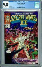 SECRET WARS II 2 CGC 9.8 WP 1st FULL BEYONDER HUMAN FORM New Case Marvel 1985