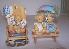 Cherished Teddies Enesco Carter And Elsie #302791 & Amelia #273554 ~Nib Certif.