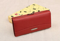 Women's Genuine Leather Red Wallet for Lady