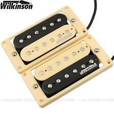 Wilkinson MWHZ 'HOT' ZEBRA Humbucker Pickup Set for Gibson, Epiphone CREAM Rings