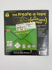 Kreate-a-lope Envelope Maker Green Sneakers A2: Standard Invitiation Envelope