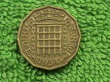 GREAT BRITAIN 3 Pence 1954