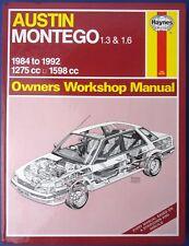 Haynes Owners Workshop Manual Austin Montego 1.3 1.6 1984 -1992 1275 1598 (1712)