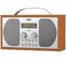 Bush DAB Bluetooth Wooden Radio 2 X 1.5w RMS Alarm 1507bt