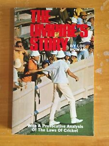 1973 Signed by author Lou Rowan the Umpires Story vgc