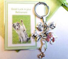Veterinarian Vet Good Luck & Happy Retirement Key Ring Gift Card & Bag Animals