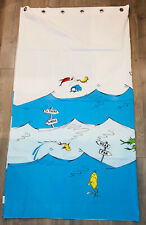 RARE Pottery Barn Kids DR. SEUSS SHOWER CURTAIN *one fish two fish