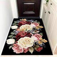 Big Flower Carpets for Living Room Hallway Doormats Floor Mats Area Rugs Decor