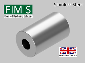 MACHINED STAINLESS STEEL HEAVY DUTY BOSS - BUSH - SPACER- STANDOFF- (WELDABLE)