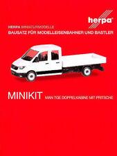 HERPA MiniKit 1:87 MAN TGE Doppelkabine mit Pritsche, weiß Bausatz #013215 NEU