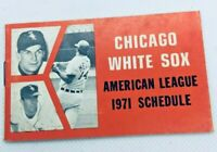 1971 Chicago White Sox Baseball Schedule Pepsi Cola All Roads Lead Sox Park #D