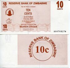 Zimbabwe 10 Cents Banknote World Money Unc Currency Bill p35 note Africa Check