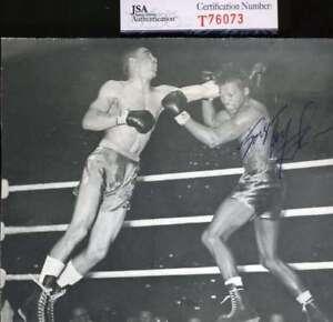 Sugar Ray Robinson Jsa Coa Autograph 5x6 Photo Hand Signed Authentic