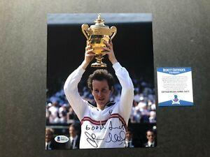 John McEnroe Rare signed autographed tennis legend 8x10 photo Beckett BAS coa
