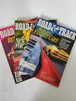 LOT OF 3 VINTAGE 1991 ROAD & TRACK MAGAZINES Oct, Sep, December 1991