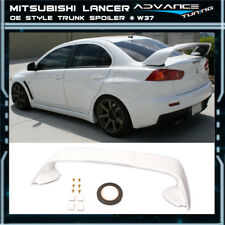 08-17 Lancer EVO X MR Trunk Spoiler OEM Painted Color # W37 Wicked White - ABS