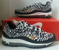 Men's Nike Air Max 98 AOP WhiteTeam Orange Black Size 12