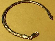 """Vintage sterling silver rounded bracelet Milor Italy 7 1/4"""" long & 3 1/6"""" wide"""